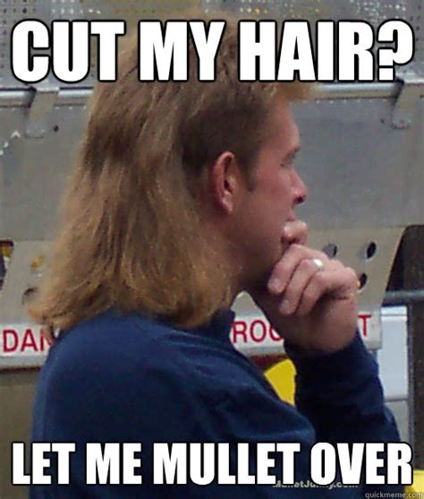 cut my hair caption cut my hair let me mullet over misc quickmeme