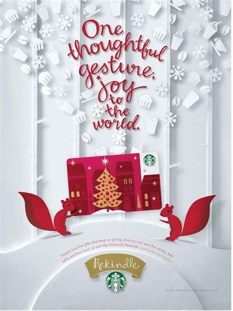 Starbucks Gift Card Advertising - the box gift cards and so cute on pinterest
