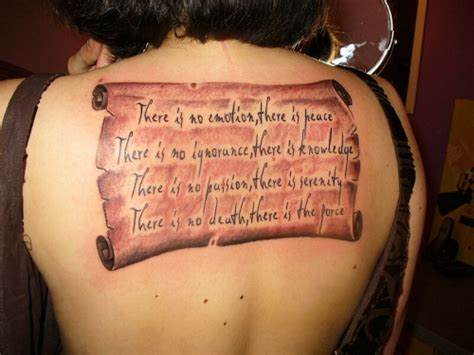 35 Groovy Upper Back Tattoos Creativefan Back Quote Tattoos
