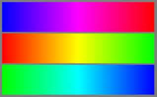 blue color spectrum we this chart on the back goo