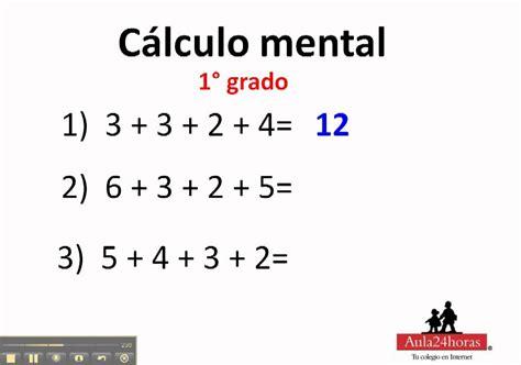 calculo mental calculo mental 1 176 de primaria youtube