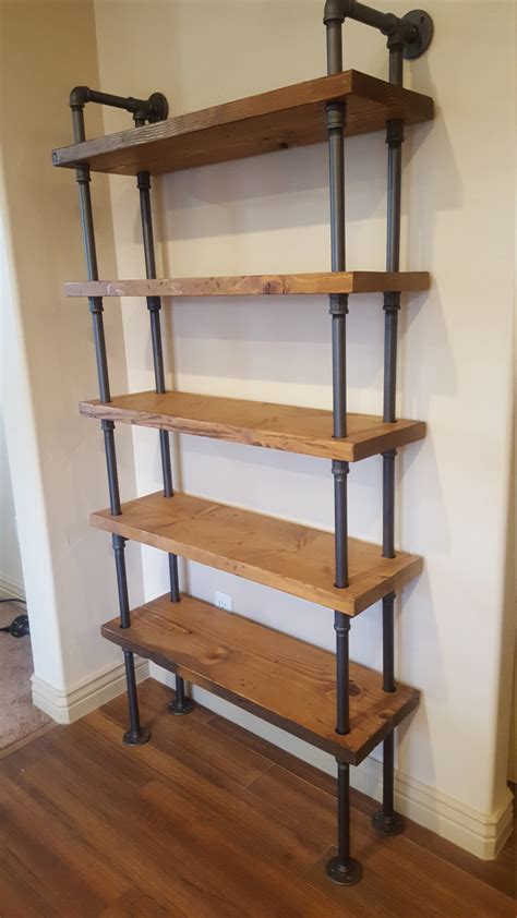 pipe shelving unit pipe bookcase industrial book case