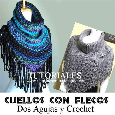 patron cuellos a dos agujas cuellos terminados en picos para tejer en tricot y
