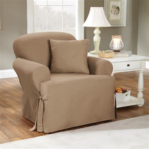 Slipcovers Chair by Sure Fit Cotton Duck T Cushion Chair Slipcover Chair