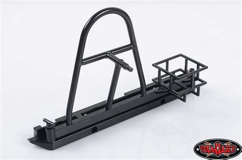 hitch mounted spare tire carrier swing away rc4wd tough armor swing away tire carrier w fuel holder