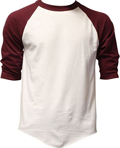 Jaket Swerater Baseball Qing Luoc Abu casual raglan 3 4 sleeve tshirt baseball jersey m white burgundy buy in uae