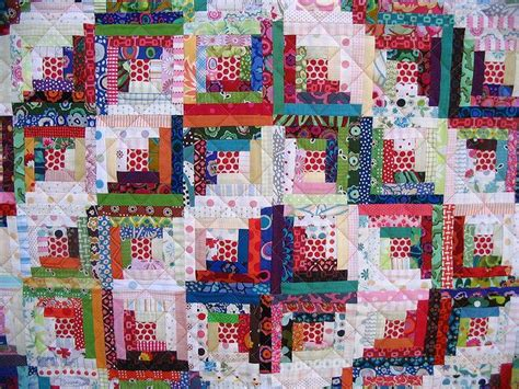 Quilting A Log Cabin Quilt by Scrappy Log Cabin Quilt Craft Ideas Quilting