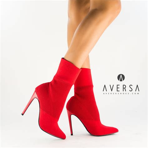 steve madden century ankle boots red knit aversa shoes