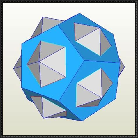 Dodecahedron Origami Free - geometry papercraft regular dodecahedron free template
