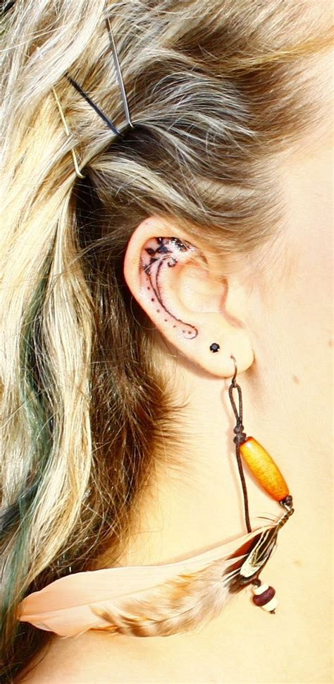 inner ear tattoo designs best 25 inner ear ideas on ear tattoos