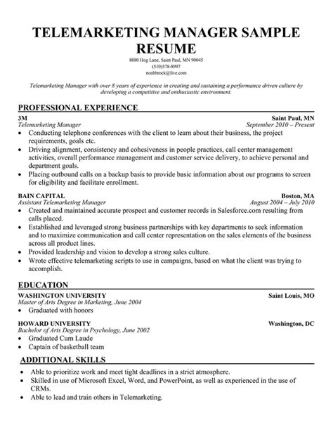 Sle Resume Objectives For Telemarketer Search Results For Fitness Resume Exles Calendar 2015
