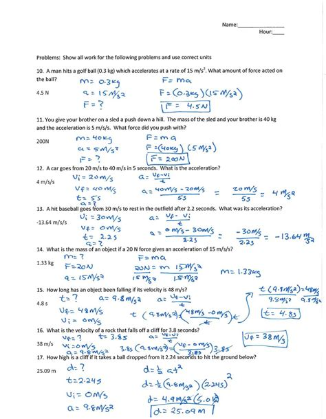Physical Science Worksheet Answers by Worksheets Science Worksheets High School Opossumsoft
