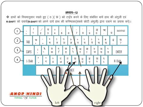 keyboard typing tutorial pdf learn hindi typing easily step by step anop hindi typing