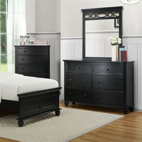 sanibel bedroom furniture dreamfurniture 2119tb sanibel bedroom set black
