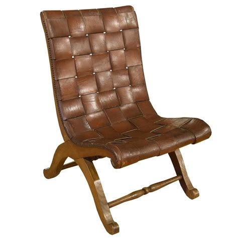 leather woven chair woven leather chair at 1stdibs