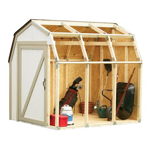 Make Your Own Shed Kits by Shed Kit With Barn Roof 90190 The Home Depot