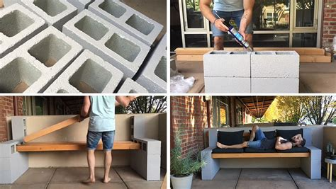 how to make your own bench make your own inexpensive outdoor furniture with this diy concrete block bench