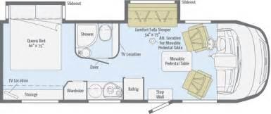 Class C Motorhome Floor Plans Via Floorplans Winnebago Rvs