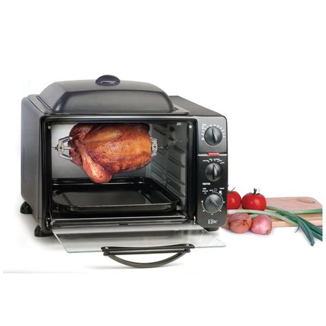 elite 174 toaster oven broiler with rotisserie grill