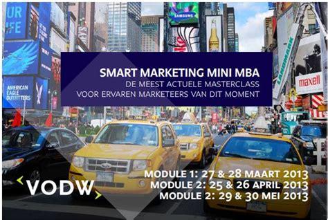 Mini Mba Marketing by Vodw En Nyenrode Organiseren Mini Mba Marketing