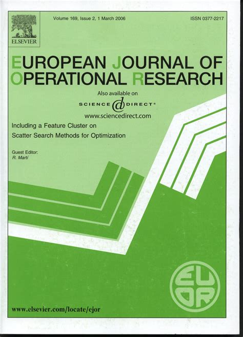 Operation Research Letter Journal Onderzoeksartikelen Ibis Uva