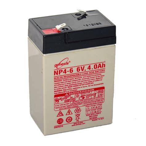 genesis battery genesis lead acid battery np4 06 6v 4 0ah