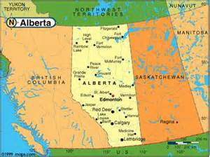 where is alberta canada on the map map of alberta canada
