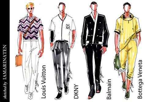 design clothes male fashion illustration