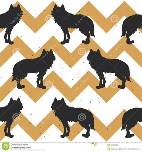 wolf pattern stock seamless pattern with wolf stock vector image 67525161