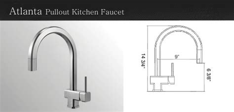kitchen faucet atlanta elements of design es2791dflbs