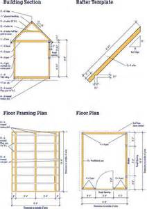 8 215 10 wood shed plans complete blueprints for a shed