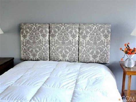 easy fabric headboard furniture simple steps of do it yourself headboard