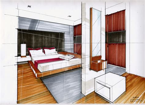 Marker Rendering Interior Design by Marker Rendering 04 By Libertas274 On Deviantart