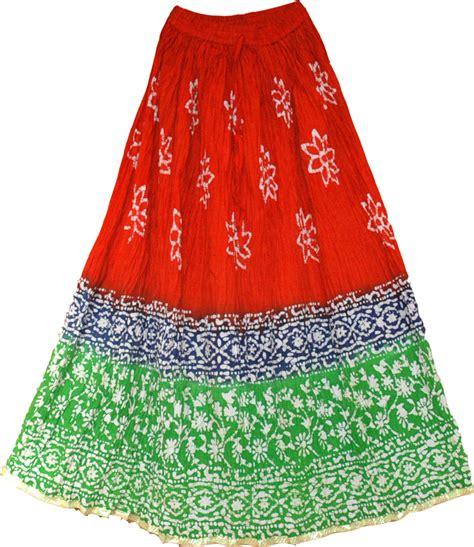 batik skirt pattern batik print cotton red skirt clearance