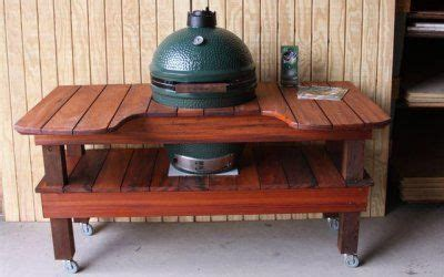 Patio Grill Table Big Green Egg Carts Tables Green Egg Green Eggs And Tables