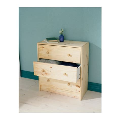 30 Cm Depth Chest Of Drawers by Rast Solid Pine Wood Chest Of 3 Drawers New Ebay