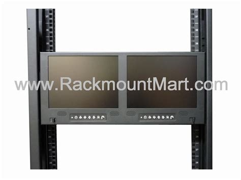 Rack Mount Computer Monitor by Rackmount Dual Lcd Led Monitor Dual Rack Mount Tft