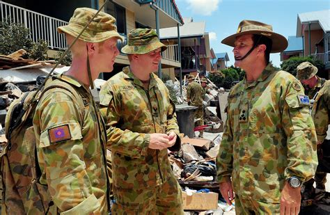 ajem defence force helps queensland  road  recovery