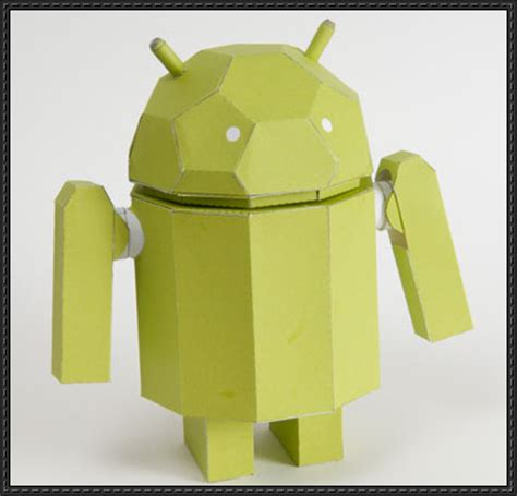 Android Papercraft - new paper model movable android robot paper model free