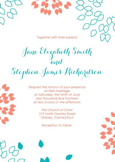 gmail invitation template free pdf wedding downloads summer petals wedding