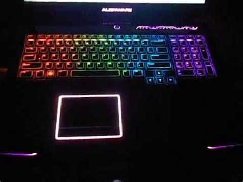alienware light up keyboard my m17x alienware laptop keyboard youtube