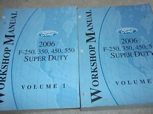 online service manuals 2006 ford f 350 super duty electronic throttle control 2006 ford truck f 250 f250 350 450 550 super duty service repair manual set used ebay