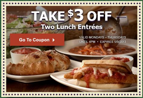 olive garden lunch deals