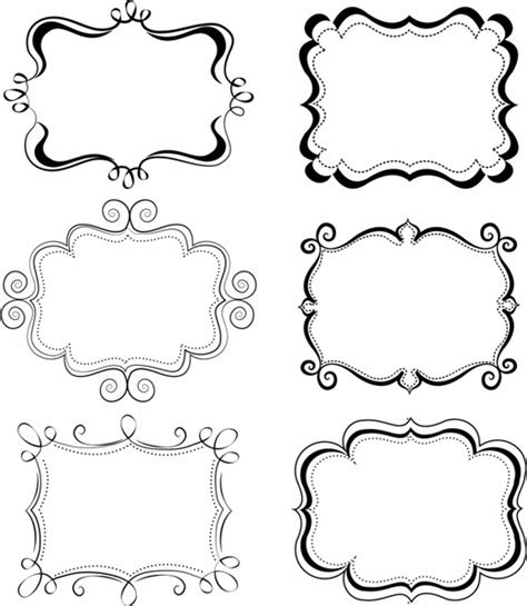 Funky Frames Free Vector In Adobe Illustrator Ai Ai