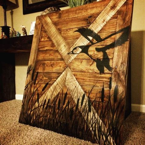 duck decorations home duck hunting wall decor wood sign by makeyourselfcreative