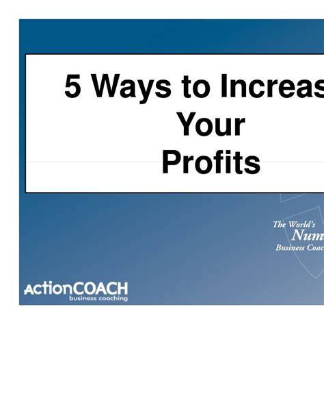 5 Ways To Prettify Your by 5 Ways To Increase Your Profits