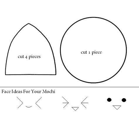 how to make a kawaii mochi plushie tutorial hapy friends