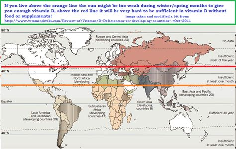 supplement of 42 degrees map of potential zones of risk from vitamin d deficiency