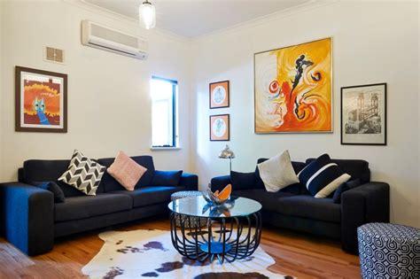 ten ideas  blue sofa  trend stylish living room