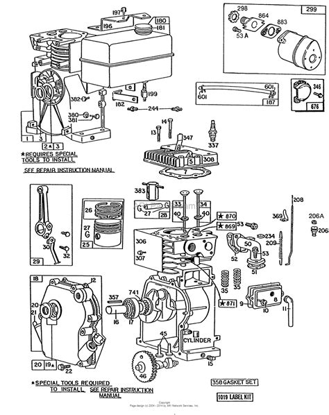 parts diagram for briggs stratton engine 8 hp briggs and stratton parts diagram briggs stratton